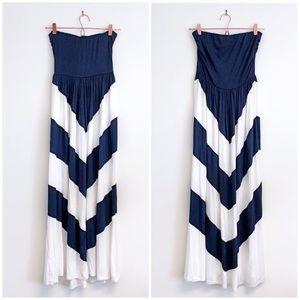 NWT Chevron Maxi Dress XS